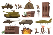War Flat Icon Set