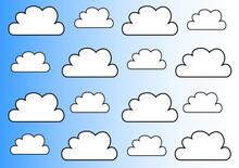 Fondo Degradado Azul Con Nubes