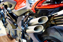 Exhaust Pipes Of Modern Motorcycle