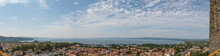 Panoramic View Of Lake Bolsena In The Province Of Viterbo In Italy From The Rocca Monaldeschi In Bolsena.