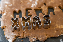 Xmas Letters In Gingerbread Dough
