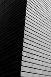 DRESDEN, GERMANY, 23 JULY 2020: black and white modern architecture