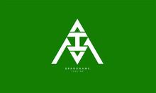 Alphabet Letters Initials Monogram Logo MIA, AIM