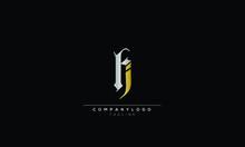 FI HI Abstract Initial Monogram Letter Alphabet Logo Design