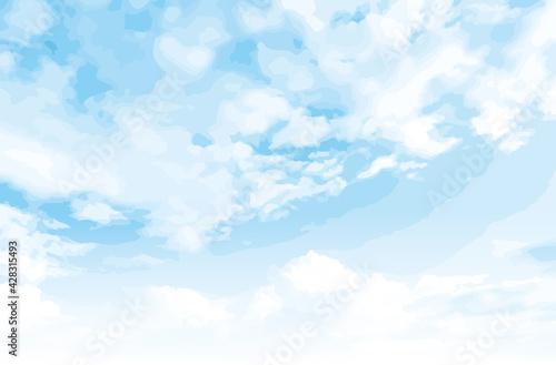 Fototapeta さわやかな淡い青空 obraz