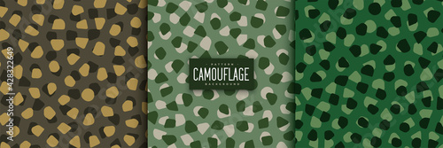 Fotografia abstract camouflage patterns set in voronoi style