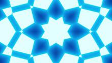 Illustration Of Neon Blue Futuristic Fractal Kaleidoscopic Background
