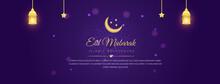Eid Mubarak Social Media Cover Photo Design Illustration