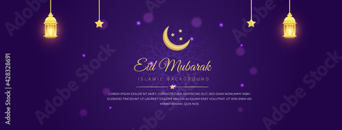 Canvas Print Eid Mubarak Social media cover photo Design illustration