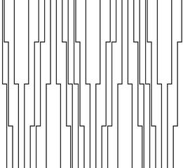 Geometric of vertical stripe pattern. Design trellis regular lines black on white background. Design print for illustration, texture, textile, wallpaper, background. Set 1
