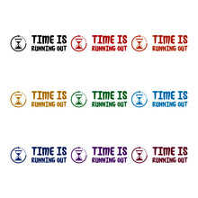 Time Is Running Out Icon Isolated On White Background Color Set