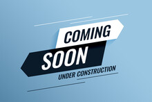 Coming Soon Under Construction Background Design