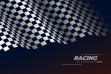 Sports Racing Checkered Flag Background