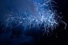 Blue Holiday Night Fireworks