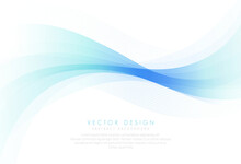 Green Turquoise And Blue Gradient Abstract Background Vector Illustration, Curves And Lines Use For Banner, Cover, Poster, Design With Space For Text.Vector Illustration