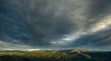Karkonosze Szklarska Poręba Zakręt Śmierci panorama HDR in Polish mountains