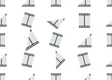 Camera Roll. Geometric Seamless Pattern For Design.