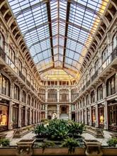 Vertical Shot Of The Galleria Subalpina In Turin, Italy