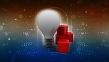 3d Rendering Fluorescent Cfl Lamp