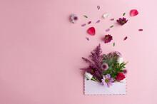 Gift Flowers Inside An Envelope