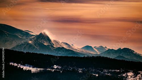 Fototapeta Zachód słońca w Tatrach obraz