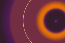Illustration Of Purple And Orange Circles Isolated On A Dark Background With Space For Text