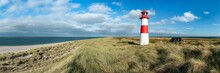 Lighthouse At The North Sea Coast On Sylt, Schleswig-Holstein, Germany