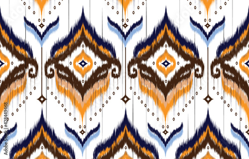 Ikat geometric folklore ornament Wallpaper Mural