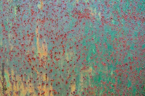 Tekstura stara farba na powierzchni metalowej - fototapety na wymiar