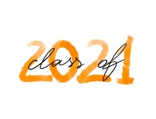 Class Of 2021 Handwritten Typography. Education. Students 2021 Class