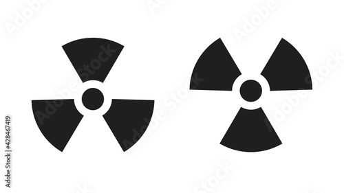 Fotografie, Obraz Nuclear icons isolated on white background