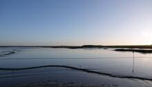 Natural View Of The River Blackwater Estuary On The Salt Marsh Coast At Maldon, UK