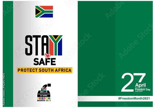 Obraz na plátne South Africa freedom day logo