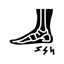 Heel Spur Disease Line Icon Vector. Heel Spur Disease Sign. Isolated Contour Symbol Black Illustration