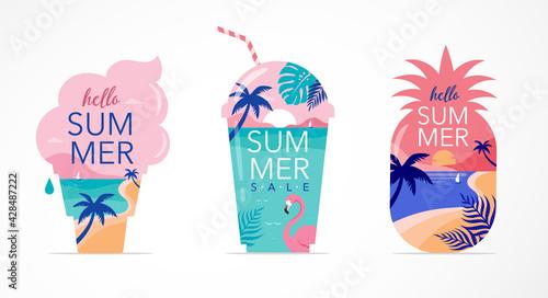 Fotografia Summer time fun concept design