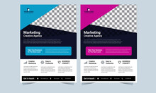 Business Abstract Vector Template. Brochure Design, Cover Modern Layout, Annual Report, Poster, Flyer In A4 With Colorful Triangles