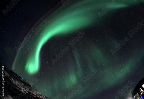Fotografiet Nice polar lights shot in winter