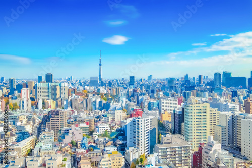 Over 8K Resolution Japanimation style background / tokyo cities sky Wallpaper Mural
