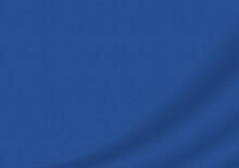 落ち着いた曲線ドレープの背景 青
