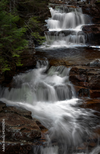 Gorgeous waterfalls with multiple cascades in crawford notch new hampshire Wall mural