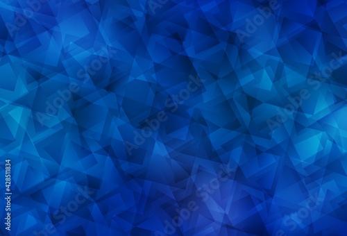 Obraz Light BLUE vector polygon abstract background. - fototapety do salonu