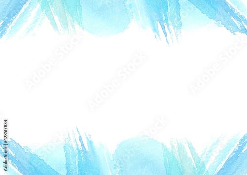 Fototapeta 水彩で描いた爽やかな水色の背景 obraz