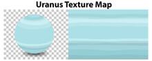 Uranus Planet On Transparent With Uranus Texture Map