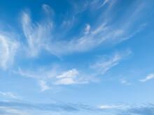 Blue Clear Sky Background In Brisbane, Queensland, Australia