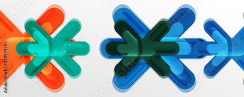 Vászonkép Abstract glossy crosses background for business or technology presentations, int