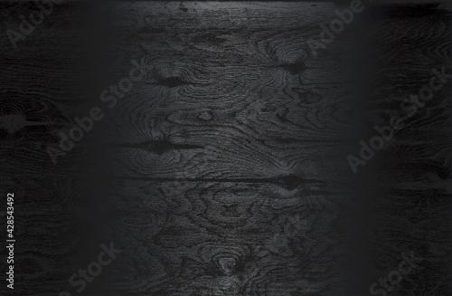 Luxury black metal gradient background with distressed wooden parquet texture. - fototapety na wymiar