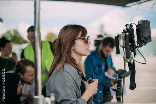 Fotografering Director at work on the set