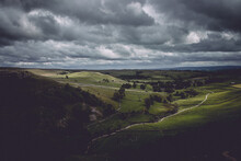 Landscape From The Top Of Malham Cove In Yorkshire