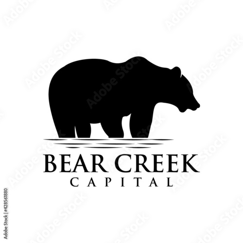 Fotografia bear in creek logo