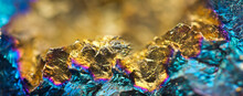Golden Nugget. Gold Texture. Gold Nugget Closeup. Golden Background